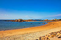 tregastel  Pink Granite Coast (cote de granit rose) in brittany France