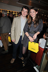 TOM BUYS and his sister ALICE BUYS at the launch of Tom Parker Bowles's new book 'Full English' held in the Gallery Restaurant, Selfridges, Oxford Street, London on 9th September 2009.