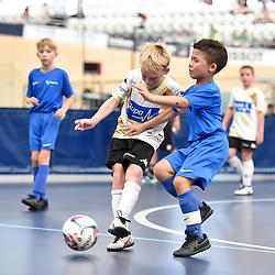 BRISBANE, AUSTRALIA - NOVEMBER 14:  during the QLD Futsal Junior Superliga match between Elitefoot u9 White and u9 Centre of Development at Anna Meares Velodrome on November 14, 2020 in Brisbane, Australia. (Photo by Patrick Kearney)