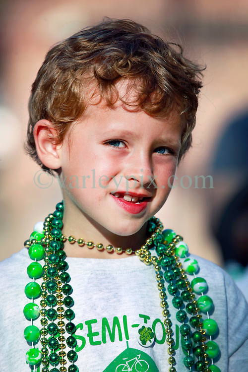 16 March 2013. New Orleans, Louisiana,  USA. .Saint Patrick's Day parade in New Orleans. Benny at the parade..Photo; Charlie Varley.