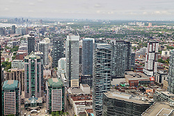 May 29, 2017 - Toronto, Ontario, Canada - Elevated view of buildings in downtown Toronto, Ontario, Canada, on 29 May 2017. (Credit Image: © Creative Touch Imaging Ltd/NurPhoto via ZUMA Press)