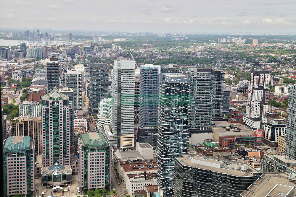 May 29, 2017 - Toronto, Ontario, Canada - Elevated view of buildings in downtown Toronto, Ontario, Canada, on 29 May 2017. (Credit Image: © Creative Touch Imaging Ltd/NurPhoto via ZUMA Press)