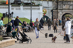 © Licensed to London News Pictures. 02/02/2021. London, UK. After a week of freezing temperatures, and the North of England still suffering from heavy snow, members of the public enjoy a stroll in the Spring like sunshine along the River Thames in Richmond South West London as temperatures reached over 15c in the capital today. However rain and a slightly cooler outlook is forecast for the rest of the week. Photo credit: Alex Lentati/LNP