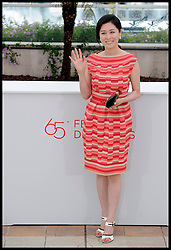 Moon Sori pose's for Photographers during the Photocall for the film In Another Country during 65th Annual Cannes Film Festival at Palais des Festivals, Cannes, France, Monday May 21, 2012. Photo by Andrew Parsons/i-Images.