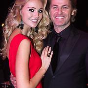 NLD/Hilversum/20131208 - Miss Nederland finale 2013, John Ewbank en partner Kelly Weekers