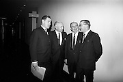 16/11/1966<br /> 11/16/1966<br /> 16 November 1966<br /> O'Brien Plastics Ltd., Bishopstown, Cork reception at the Intercontinental Hotel, Dublin to announce that Phillips Petroleum Company, Oklahoma U.S.A had acquired a 50% interest in O'Brien Plastics. Pictured (l-r): Mr. Gerald Horgan, Secretary, O'Brien Plastics Ltd.; Mr. Edwin Van der Bark, Phillips Petroleum Co.; Mr. William O'Brien and Alderman Sean Casey, Lord Mayor of Cork.