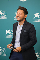 Venice, Italy, 30th August 2019, Adriano Pantaleo at the photocall for the film The Mayor of Rione Sanita (Il Sindaco Del Rione Sanita) at the 76th Venice Film Festival, Sala Grande. Credit: Doreen Kennedy/Alamy Live News