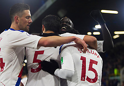 Jeffrey Schlupp of Crystal Palace (R) celebrates scoring his sides second goal - Mandatory by-line: Jack Phillips/JMP - 30/11/2019 - FOOTBALL - Turf Moor - Burnley, England - Burnley v Crystal Palace - English Premier League
