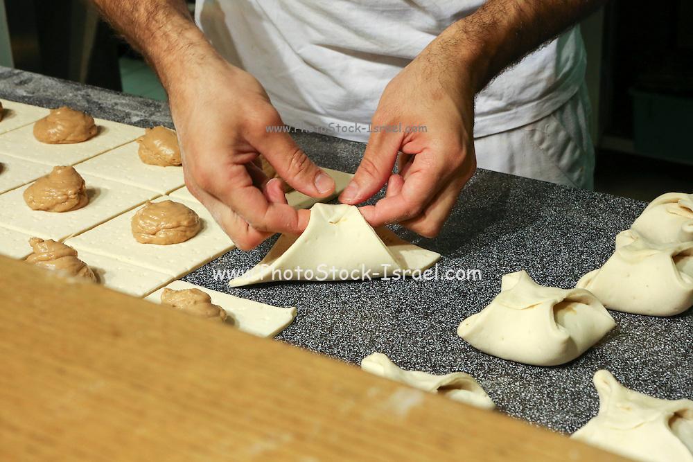Baker working in a bakery