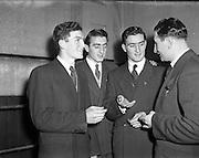 14/01/1953<br /> 01/14/1953<br /> 14 January 1953<br /> Corinthians Boxing Club, Dublin. (l-r): Eamonn McKeon; Vincent McKeon; Matt Mckeon and Mick McKeon.