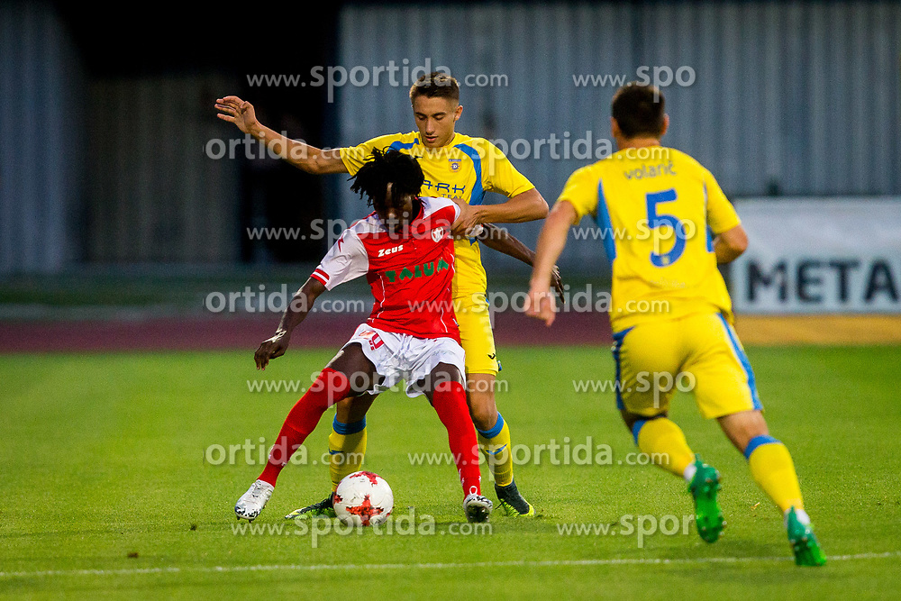 Matija Rom of NK Domzale during football match between NK Domžale and NK Aluminij in 6th Round of Prva liga Telekom Slovenije 2017/18, on August 20, 2017 in Sports park Domzale, Domzale. Photo by Ziga Zupan / Sportida