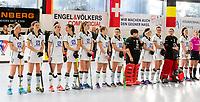 HAMBURG  (Ger) - Laren (Ned) v Waterloo Ducks (Bel) (8-2) foto:  line up Waterloo Ducks  . Eurohockey Indoor  Club Cup 2019 Women . WORLDSPORTPICS COPYRIGHT  KOEN SUYK