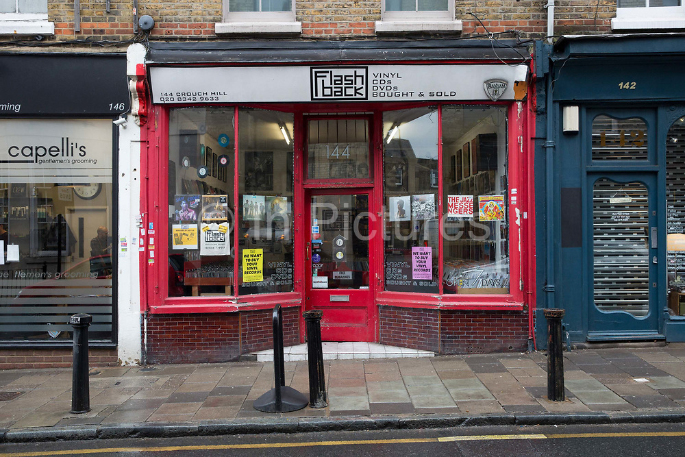 Flashback record shop on the 27th March 2018 in Crouch End, North London in the United Kingdom.