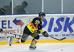 Luka Kar of Slavija at SLOHOKEJ league ice hockey match between HK Slavija and HK Triglav Kranj, on February 3, 2010 in Arena Zalog, Ljubljana, Slovenia. Triglaw won 4:1. (Photo by Vid Ponikvar / Sportida)