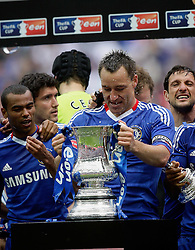 15.05.2010, Wembley Stadium, London, ENG, FA Cup Finale, Chelsea FC vs Portsmouth FC, im Bild John Terry, the Captain  of Chelsea and team mates Frank Lampard of Chelsea  and Ashley Cole of Chelsea   in Chelsea's FA Cup winning celebrations. EXPA Pictures © 2010, PhotoCredit: EXPA/ IPS/ Marcello Pozzetti / SPORTIDA PHOTO AGENCY