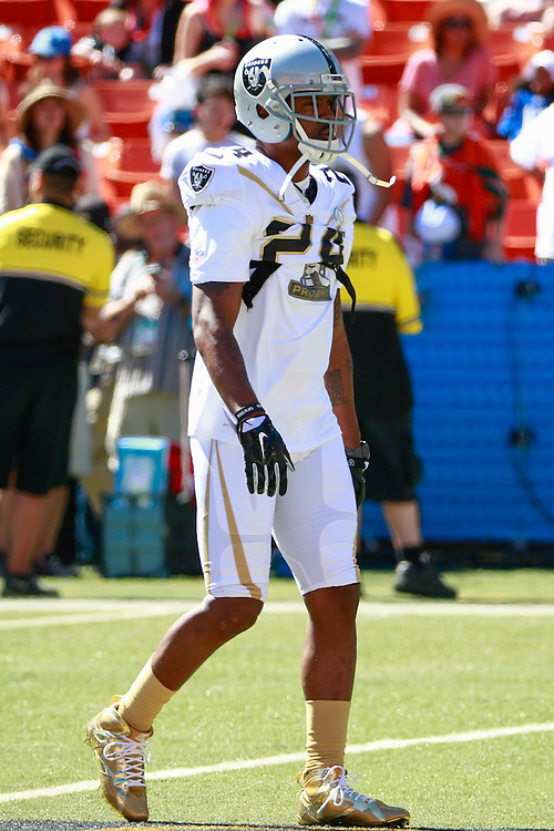 January 31 2016: Team Rice Charles Woodson last game of his career is the Pro Bowl at Aloha Stadium on Oahu, HI. (Photo by Aric Becker/Icon Sportswire)