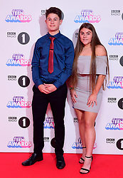 Radio 1's teen heroes Oliver and Holly attending BBC Radio 1's Teen Awards, at the SSE Arena, Wembley, London.