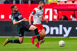 Bart Ramselaar of FC Utrecht, Ahmed Touba of RKC Waalwijk during eredivisie round 03 between FC Utrecht and RKC at Nieuw Galgenwaard stadium on September 27, 2020 in Utrecht, Netherlands