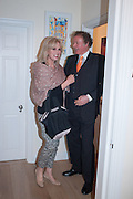 JOANNA LUMLEY; RICHARD BRIGGS, Party given by Basia Briggs and Richard Briggs at their home in Chelsea. London. 14 May 2012