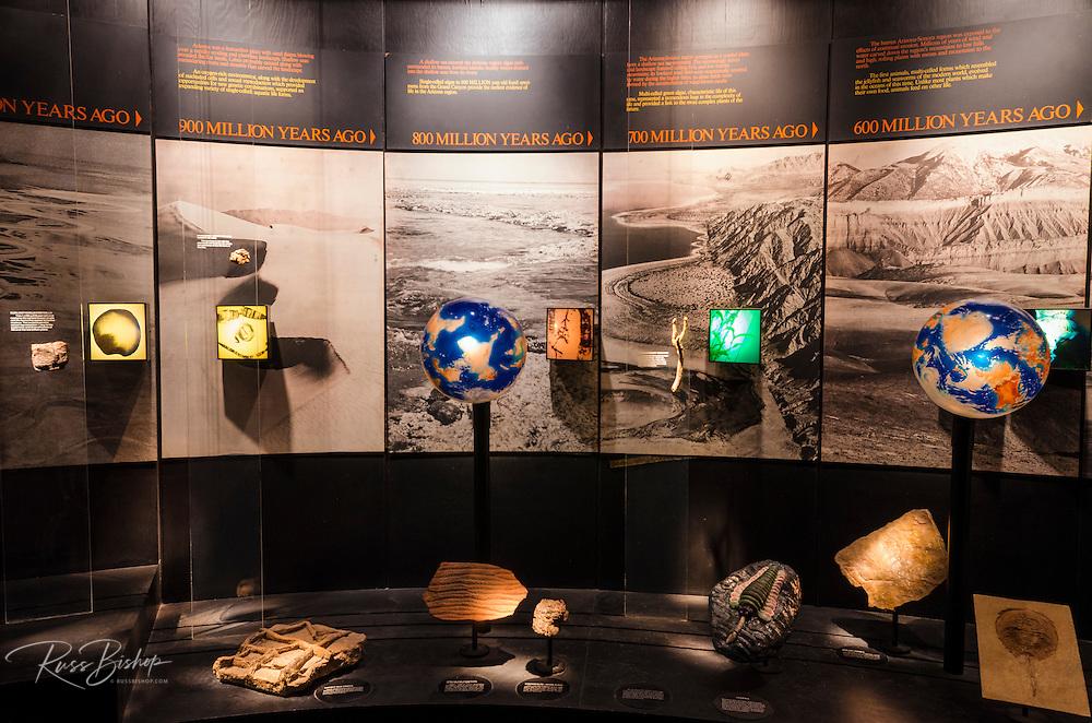 Interpretive display at the Arizona-Sonora Desert Museum, Tucson, Arizona USA