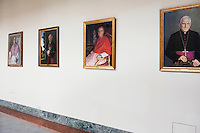 ROME, ITALY - 6 MARCH 2013: A wing of the Pontifical North American College with portraits of its protectors, in Rome, Italy, on March 6, 2013. ..The Pontifical North American College is a Roman Catholic educational institution that forms seminarians for priestly ministry in the dioceses in the United States and that provides a residence for American priests pursuing graduate studies...Gianni Cipriano for The New York Times10139468AROME, ITALY - MARCH 10: U.S. Cardinal Timothy Dolan of New York City arrives at the Our Lady of Guadalupe church in the Monte Mario district where he is the titular head to give a Sunday Mass, in Rome, Italy, on March 10, 2013. Cardinals are set to enter the conclave to elect a successor to Pope Benedict XVI after he became the first pope in 600 years to resign from the role. The conclave is scheduled to start on March 12 inside the Sistine Chapel and will be attended by 115 cardinals as they vote to select the 266th Pope of the Catholic Church...Gianni Cipriano for The New York Times
