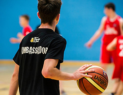 Pictured: <br /> Today, Justice Secretary Michael Matheson visited the Raploch community campus and met young people involved in CashBack-funded basketball sessions. <br />  <br /> Ger Harley   EEm 11 July  2017