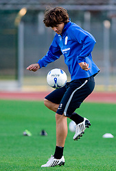 Rene Krhin of Slovenian National football team at practice a day before the last 2010 FIFA Qualifications match between San Marino and Slovenia, on October 13, 2009, in Olimpico Stadium, Serravalle, San Marino.  (Photo by Vid Ponikvar / Sportida)