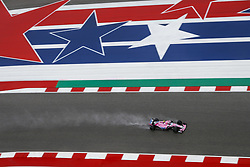 October 19, 2018 - Austin, United States - OCON Esteban (fra), Racing Point Force India F1 VJM11, action during the 2018 Formula One World Championship, United States of America Grand Prix from october 18 to 21 in Austin, Texas, USA -  /   , Motorsports: FIA Formula One World Championship; 2018; Grand Prix; United States, FORMULA 1 PIRELLI 2018 UNITED S GRAND PRIX , Circuit of The Americas  (Credit Image: © Hoch Zwei via ZUMA Wire)
