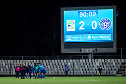Players of Slovenia and scoreboard after football match between Slovenia and Estonia in Qualification for UEFA Women's Euro 2022, on December 1, 2020 in Arena Bonifika, Koper, Slovenia. Photo by Matic Klansek Velej / Sportida