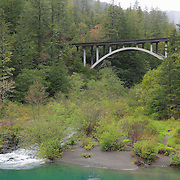 Smith River - Myrtle Creek Bridge - Hwy 199 - Six River National Forest - Northern CA
