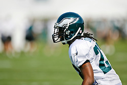 Philadelphia Eagles cornerback Asante Samuel #22 during the Philadelphia Eagles NFL training camp in Bethlehem, Pennsylvania at Lehigh University on Saturday August 8th 2009. (Photo by Brian Garfinkel)
