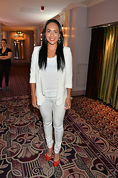 Tennis player HEATHER WATSON at the WGSN Global Fashion Awards 2015 held at The Park Lane Hotel, Piccadilly, London on 14th May 2015.