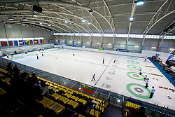 Sport hall Zalog during curling match between National teams of Slovenia and Lithuania in 6th Round of European Curling Championship on April 29, 2016 in Ledena dvorana Zalog, Ljubljana, Slovenia. Photo By Urban Urbanc / Sportida