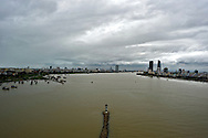 Cityscape of Danang city and Han river from Thuan Phuoc bridge, Vietnam, Southeast Asia