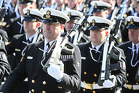 Members of the Irish Navy pictured during the centenary Easter Rising Parade at Cuffe Street in Dublin. Picture credit; Damien Eagers 27/3/2016