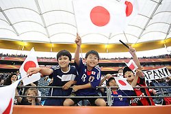 13.07.2011, Commerzbank Arena, Frankfurt, GER, FIFA Women Worldcup 2011, Halbfinale,  Japan (JPN) vs. Schweden (SWE), im Bild Japanische junge fans.. // during the FIFA Women´s Worldcup 2011, Semifinal, Japan vs Sweden on 2011/07/13, Commerzbank Arena, Frankfurt, Germany.   EXPA Pictures © 2011, PhotoCredit: EXPA/ nph/  Mueller       ****** out of GER / CRO  / BEL ******