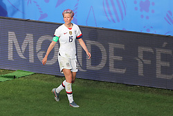 USA's Megan Rapinoe after being substituted off