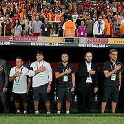Galatasaray's and Osmanlispor's during their Turkish Super League soccer match Galatasaray between Osmanlispor at the AliSamiYen Spor Kompleksi TT Arena at Seyrantepe in Istanbul Turkey on Monday, 24 August 2015. Photo by Aykut AKICI/TURKPIX