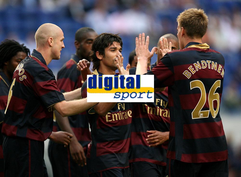 Photo: Maarten Straetemans.<br /> Arsenal v Lazio. LG Amsterdam Tournament. 02/08/2007.<br /> Eduardo scored the 1-2 and celebrates it with Nicklas Bendtner (26) who scored the first goal