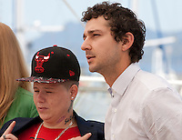 Actress Veronica Ezell and actor Shia LaBeouf at the American Honey film photo call at the 69th Cannes Film Festival Sunday 15th May 2016, Cannes, France. Photography: Doreen Kennedy