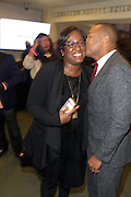 NEW YORK, NY-NOVEMBER 18: (L-R) Tiffany R. Warren, Chief Diversity Officer for Omnicom Group & Founder, ADCOLOR and On-Air Personality Don Lemo attend the 5th Annual W.E.E.N Awards held at the The Schomburg Center for Research in Black Culture on November 18, 2015 in Harlem, New York City.  (Photo by Terrence Jennings/terrencejennings.com)
