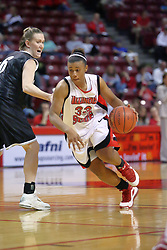 02 November 2008: Shala Jackson makes a move past Mary Bracius during a game which the Illinois State Redbirds defeated Odyssey on Doug Collins Court inside Redbird Arena in Normal Illinois.