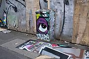 Graffiti eye on 3rd August 2021 in Birmingham, United Kingdom.