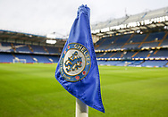 Corner flag shot ahead of The FA Cup 5th round match between Chelsea and Manchester United at Stamford Bridge, London, England on 18 February 2019.