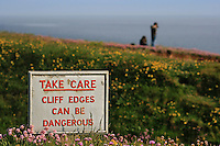 Take Care, cliff edges can be dangerous