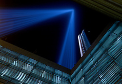The Tribute in Light illuminates the night sky as viewed from the National September 11th Memorial, September 11, 2016 in New York City, NY, USA. Throughout the country services are being held to remember the 2,977 people who were killed in New York, at the Pentagon and in a field in rural Pennsylvania. Photo by Dennis van Tine/ABACAPRESS.COM / RealTime Images