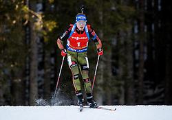 Simon Schempp (GER) competes during Men 12,5 km Pursuit at day 3 of IBU Biathlon World Cup 2015/16 Pokljuka, on December 19, 2015 in Rudno polje, Pokljuka, Slovenia. Photo by Vid Ponikvar / Sportida