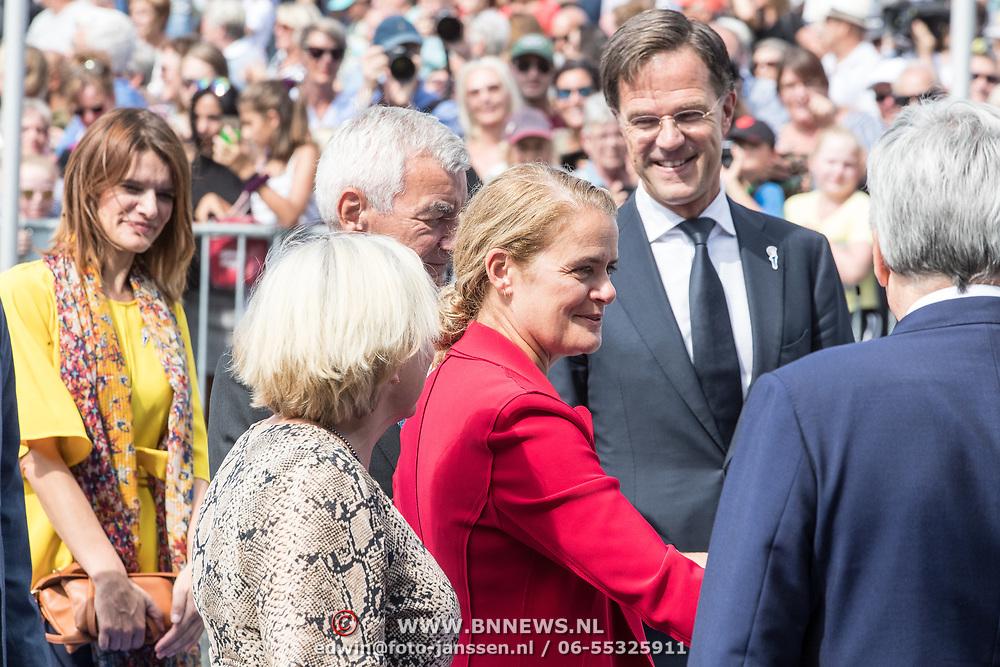 NLD/Terneuzen/20190831 - Start viering 75 jaar vrijheid, Julie Payette  met Mark Rutte en Ank Bijleveld