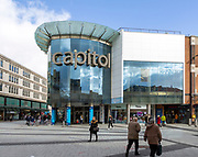Capitol modern shopping centre development in city centre of Cardiff, South Wales, UK
