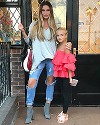 """Katie Price releases a photo on Instagram with the following caption: """"School holidays with my girl \ud83d\udc51\ud83d\udc95 @dulciediamond"""". Photo Credit: Instagram *** No USA Distribution *** For Editorial Use Only *** Not to be Published in Books or Photo Books ***  Please note: Fees charged by the agency are for the agency's services only, and do not, nor are they intended to, convey to the user any ownership of Copyright or License in the material. The agency does not claim any ownership including but not limited to Copyright or License in the attached material. By publishing this material you expressly agree to indemnify and to hold the agency and its directors, shareholders and employees harmless from any loss, claims, damages, demands, expenses (including legal fees), or any causes of action or allegation against the agency arising out of or connected in any way with publication of the material."""